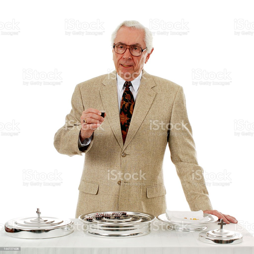 Officiating Communion royalty-free stock photo