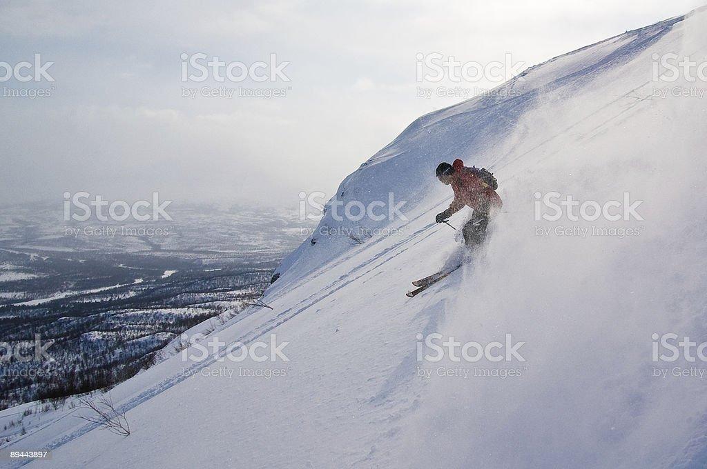 Offpist ski photo libre de droits