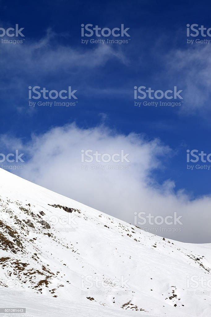 Off-piste slope at nice day royalty-free stock photo
