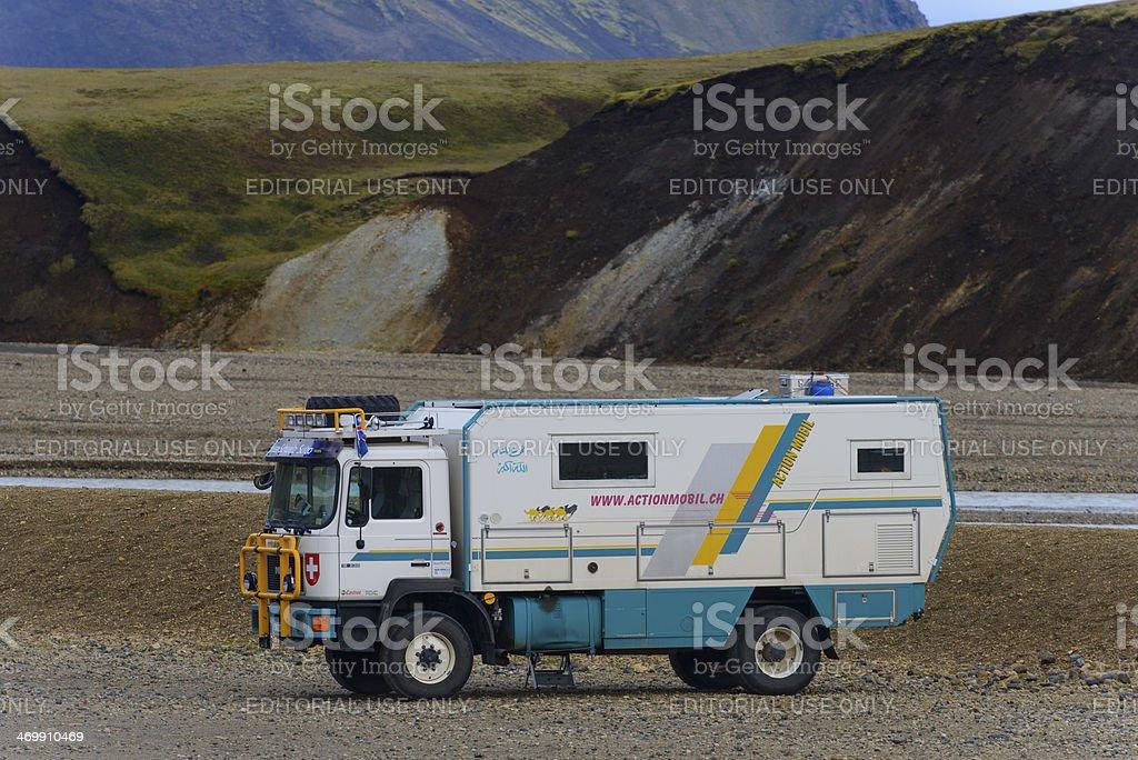M.A.N. Offroad camper truck stock photo