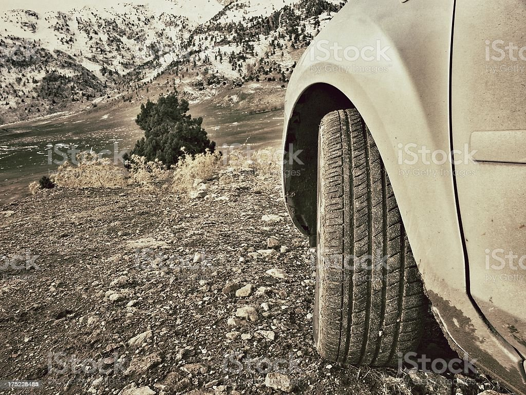 Off-road driving royalty-free stock photo