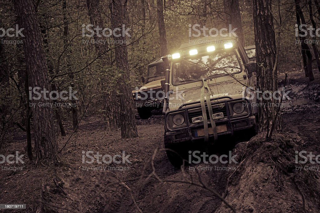 off-road in forest royalty-free stock photo