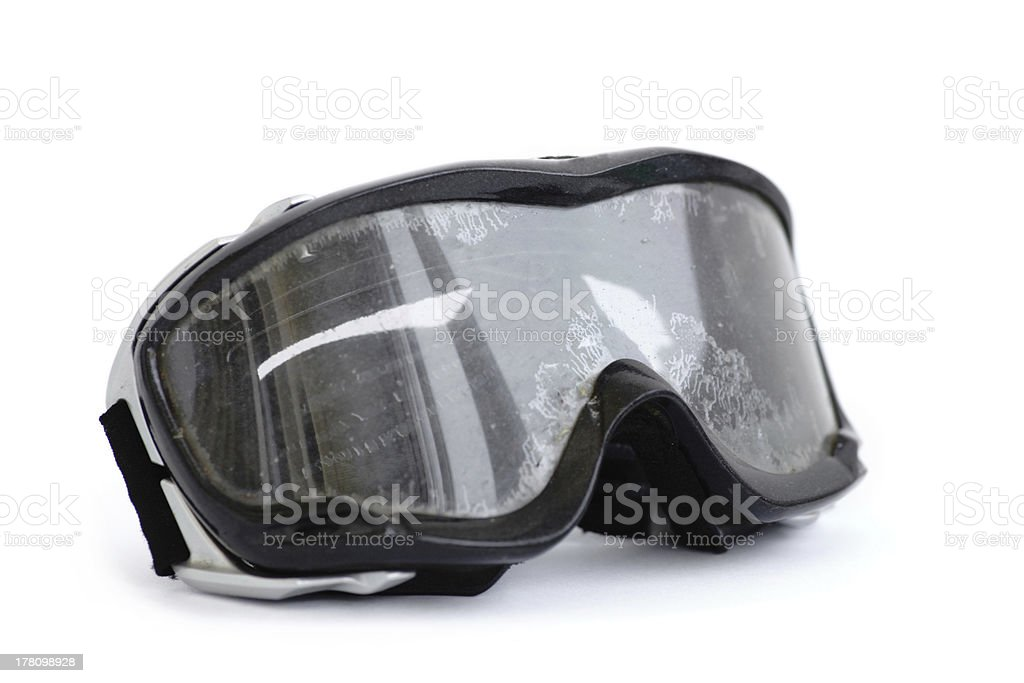 Off-road motorcycle goggles stock photo