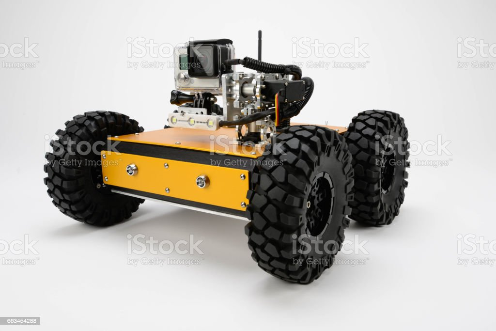 Off-Road Robot Platforms with Video Cameras stock photo