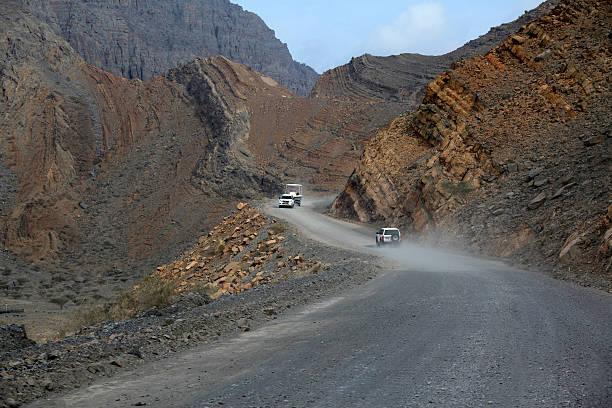 Off-road-safarin in Jebel Harim, dem Musandam-Oman – Foto