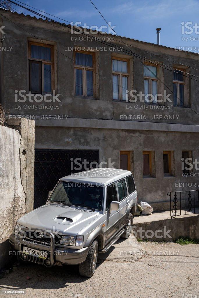Bakhchysarai, Republic of Crimea - April 1, 2019: Off-road SUV car...
