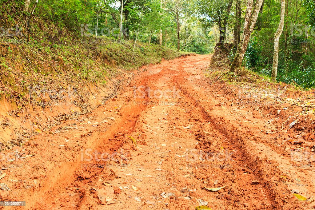 Off-road track in country stock photo