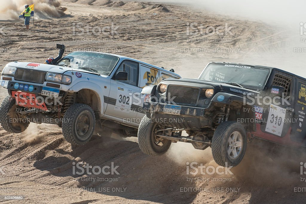El Gouna Rally Cup desert rally opening day special time trial stage...