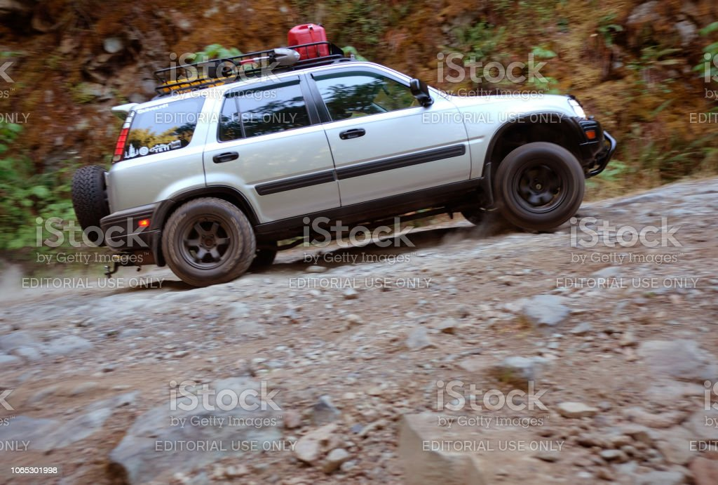 Crv Off Road >> Offroadmodified Honda Crv On Dirt Road Stock Photo