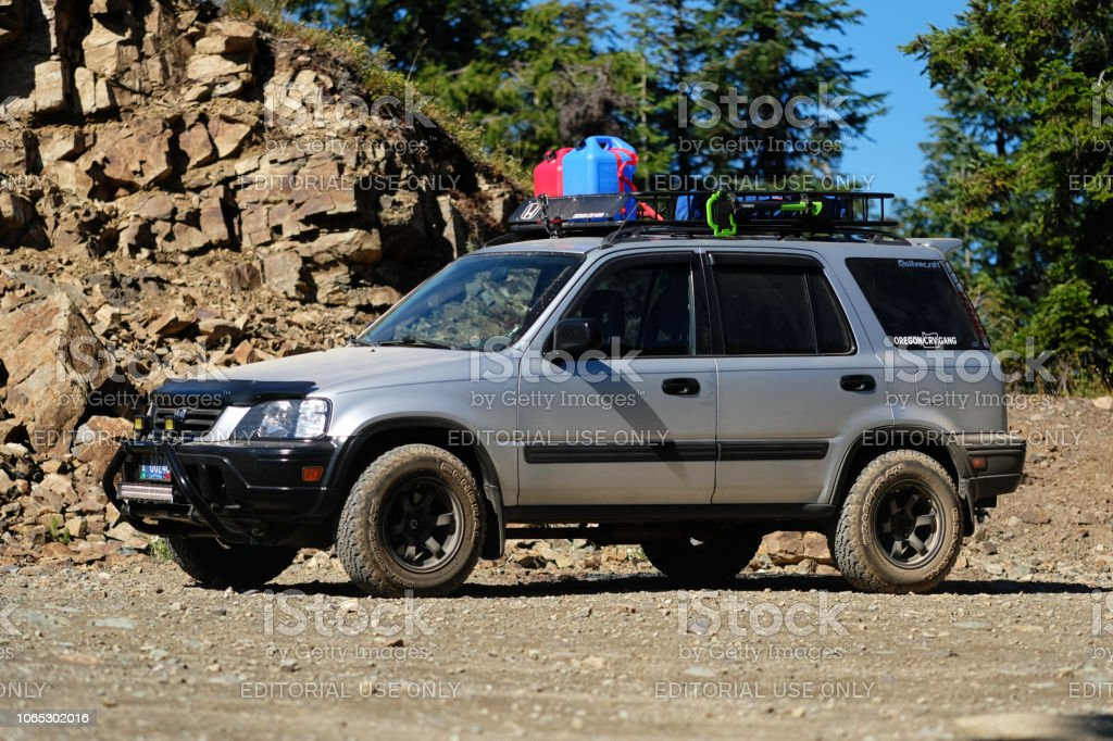Crv Off Road >> Offroadmodified Honda Crv On Dirt Road Stock Photo More Pictures