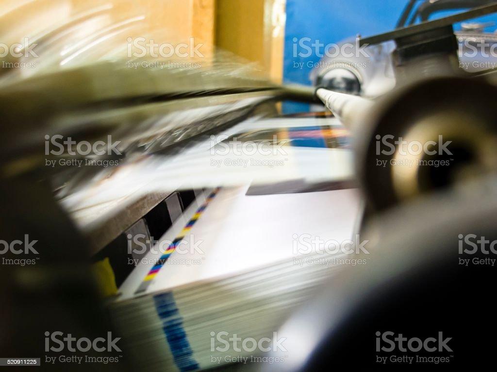 Offset machine stock photo