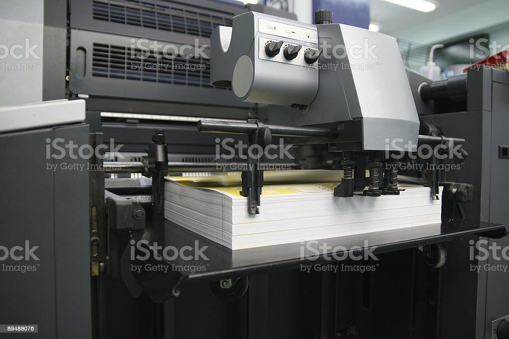 Offset machine royalty-free stock photo