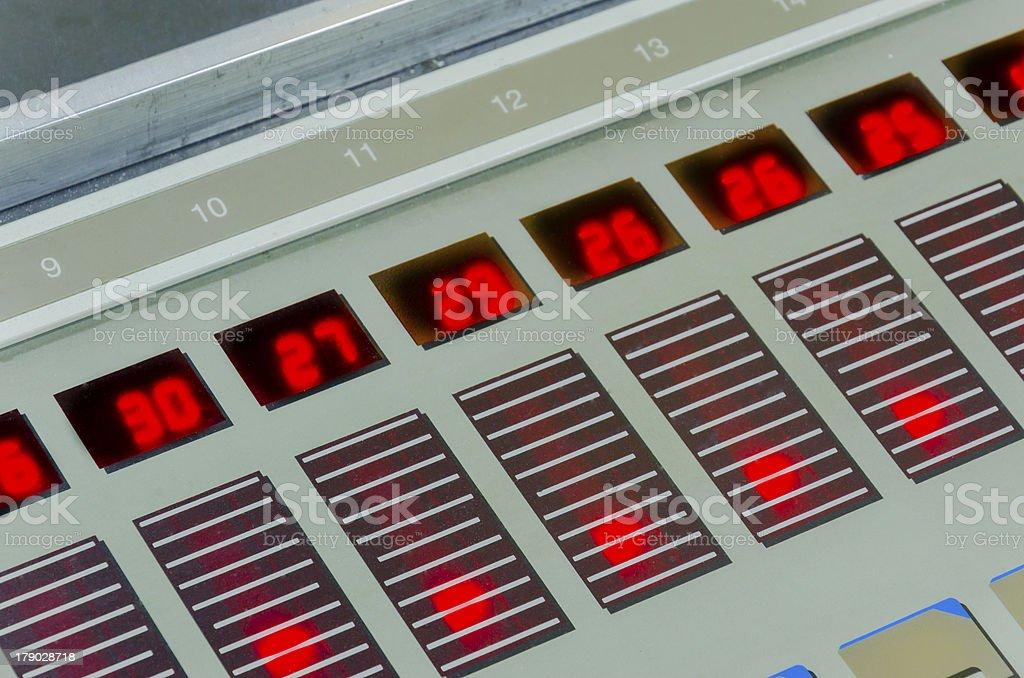 offset machine press print run at table royalty-free stock photo