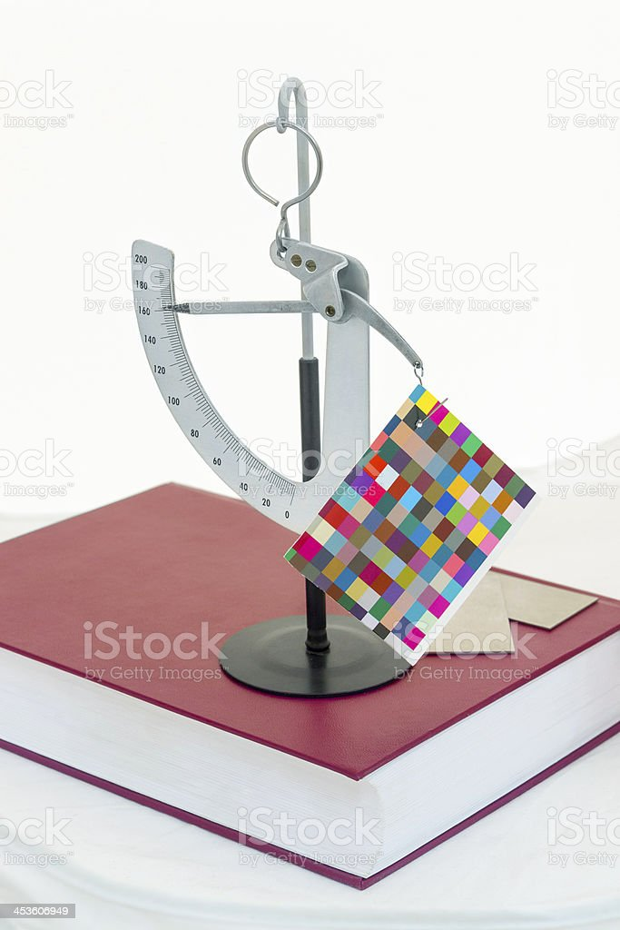 offset paper weigth measurement libre instrument tool. royalty-free stock photo