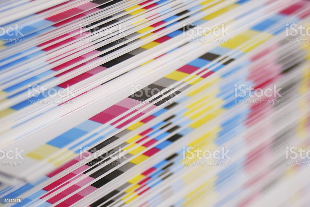 CMYK offset printing concept royalty-free stock photo