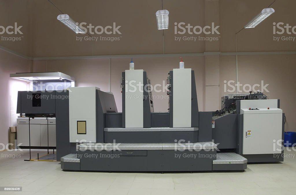 Смещение двух раздел принтом machine Стоковые фото Стоковая фотография