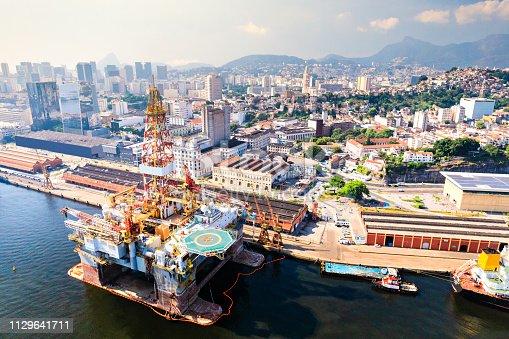 Offshore drilling rig at Rio de Janeiro port
