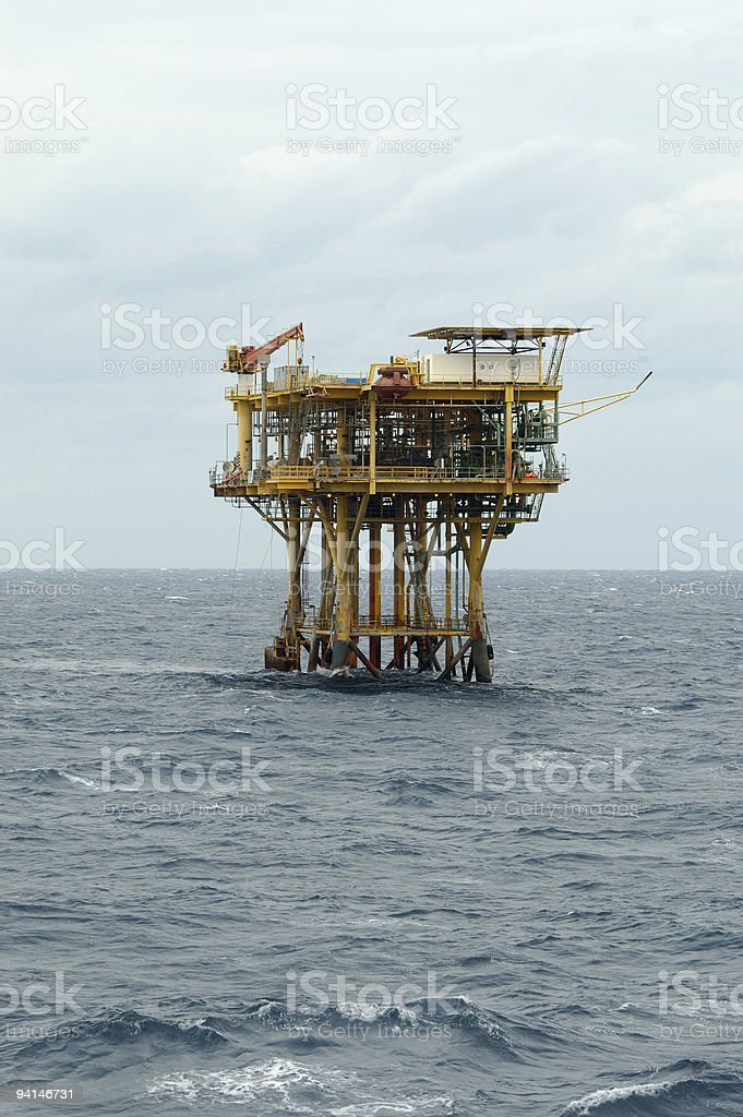 Offshore fossil fuel production platform royalty-free stock photo