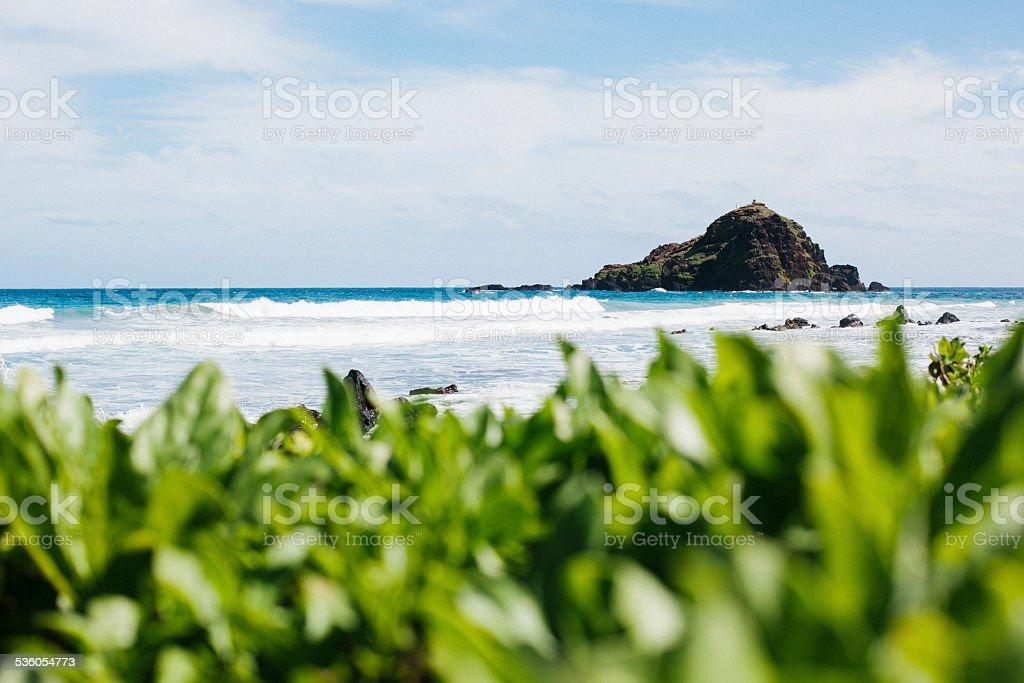 Offshore Island in Hawaii stock photo