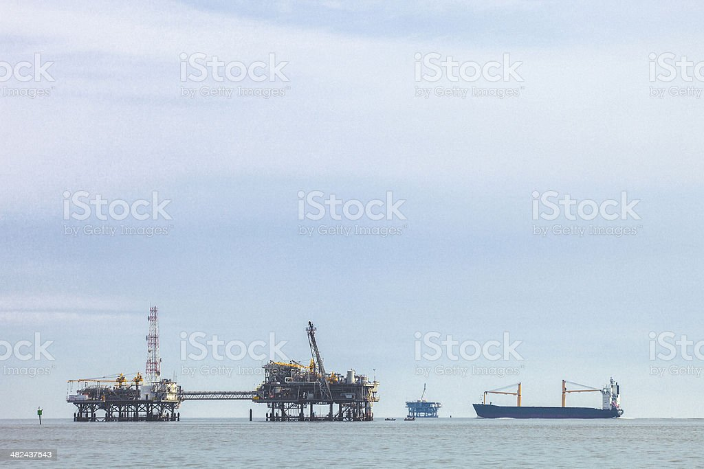 Offshore natural gas production. royalty-free stock photo