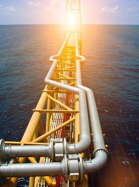Offshore Oil & Gas central process platform – Foto