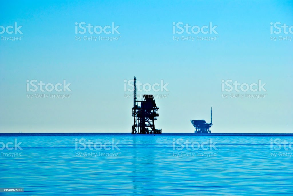 Offshore Oil Platforms royalty-free stock photo