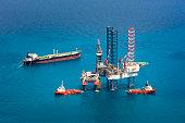 Offshore oil rig drilling platformOffshore oil rig drilling platform in the gulf of Thailand