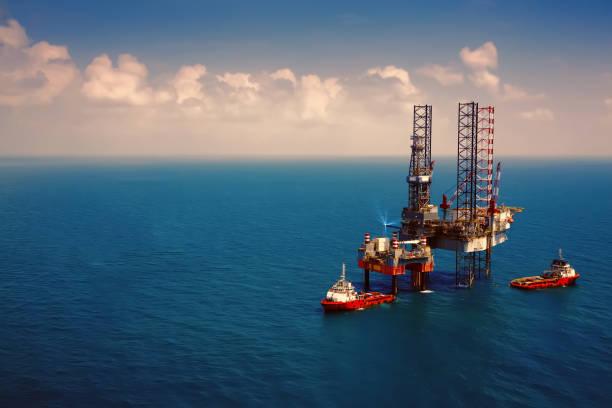 Offshore-Öl-Bohrinsel Bohrinsel – Foto