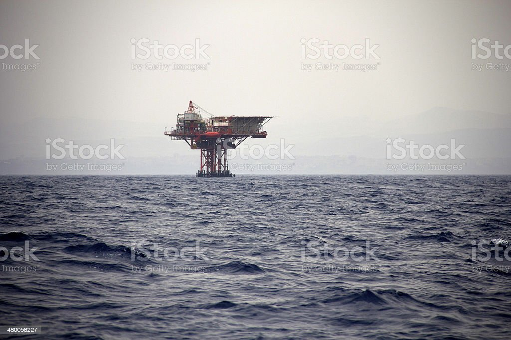 Offshore Oil Rig stock photo