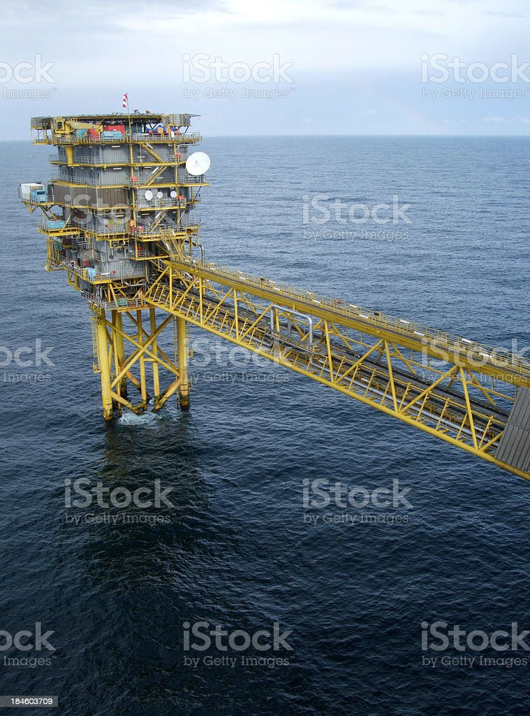 Offshore oilrig royalty-free stock photo