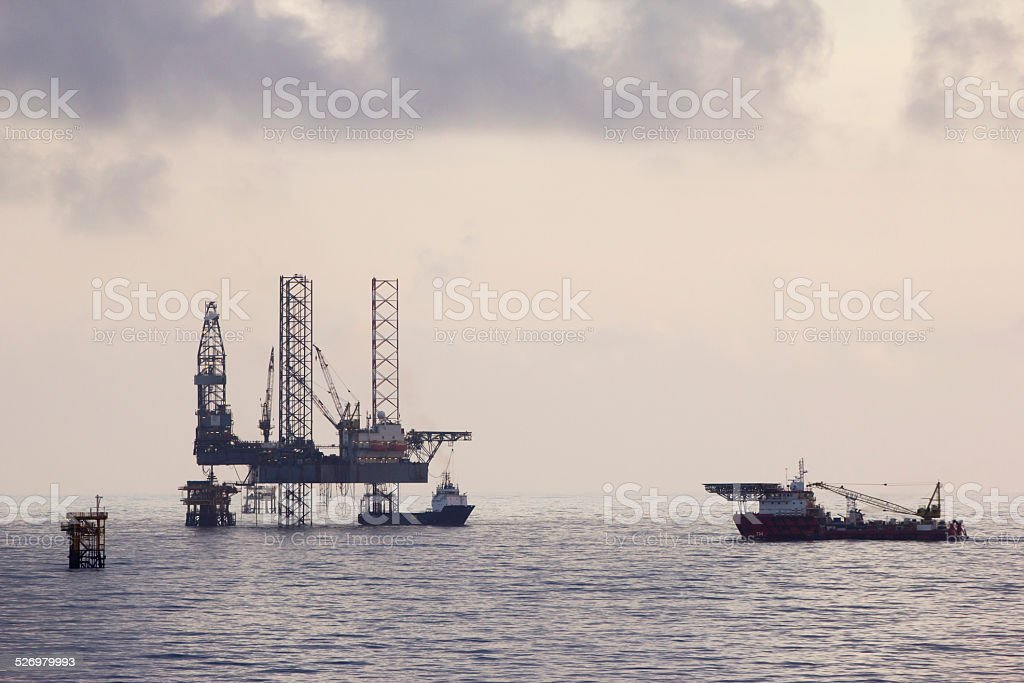Offshore oil-rig stock photo