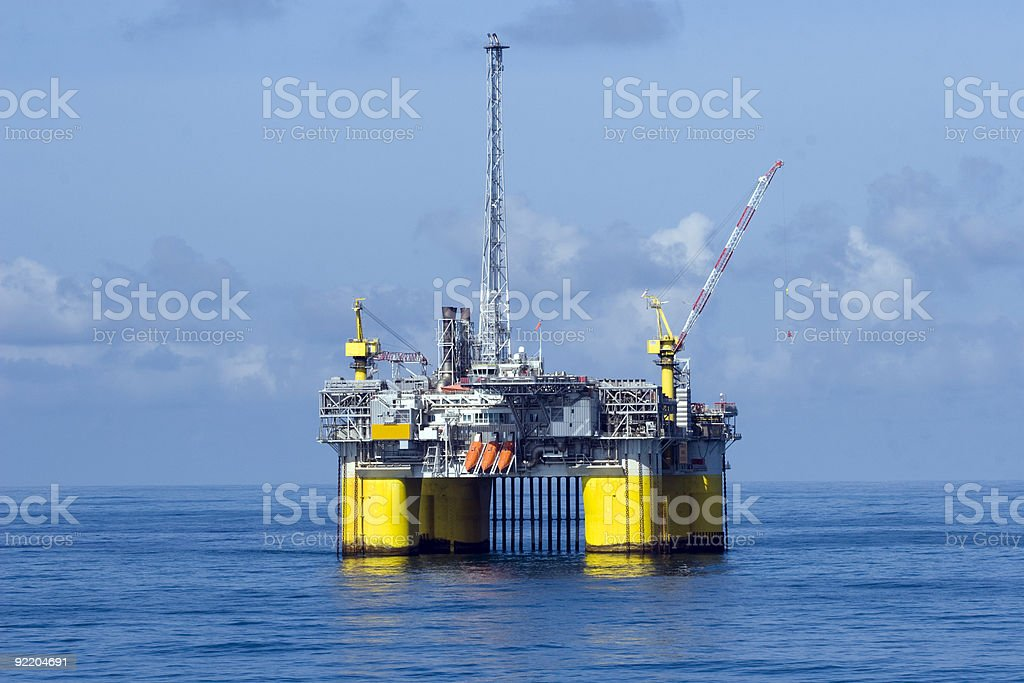 Offshore Oilrig stock photo