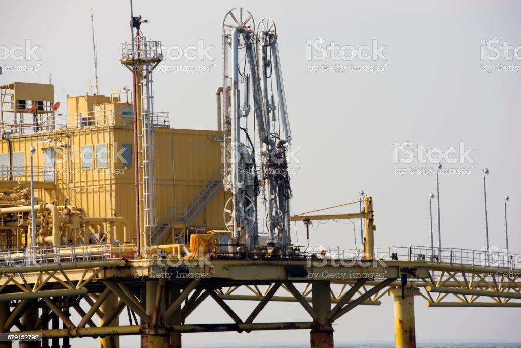 Offshore platform in south of Thailand, Metal background photo libre de droits