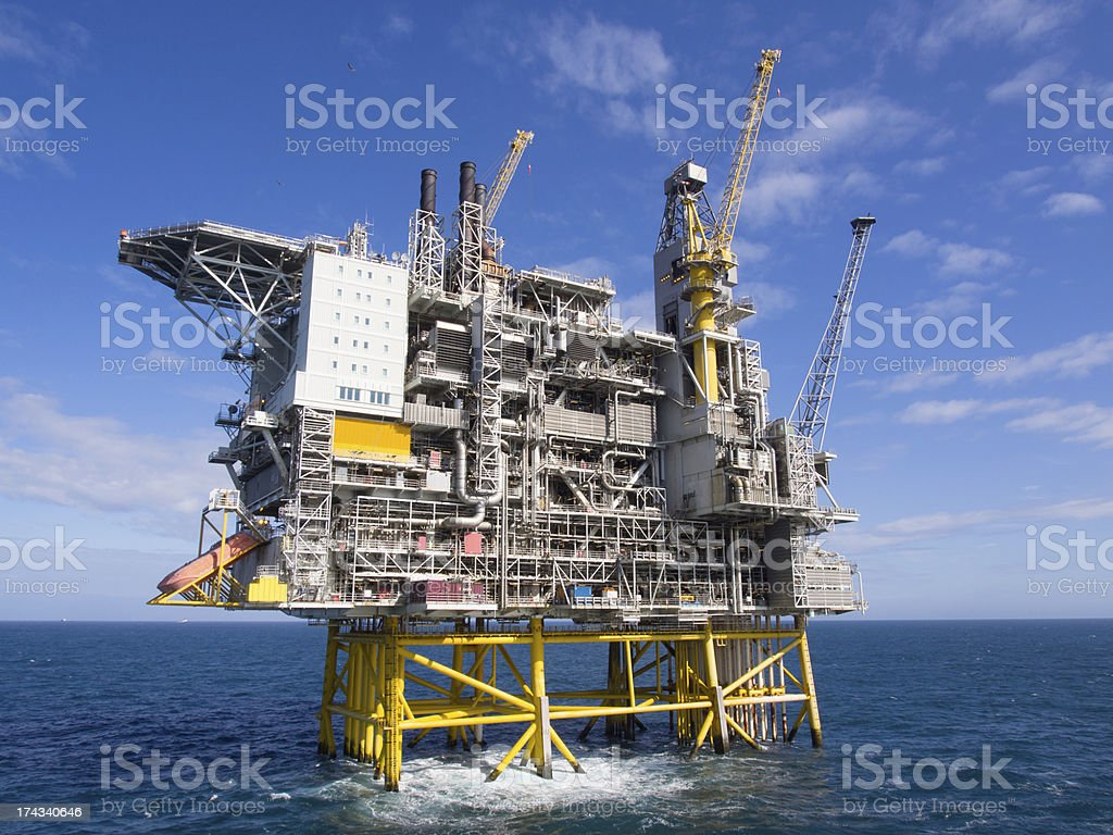 Offshore platform royalty-free stock photo