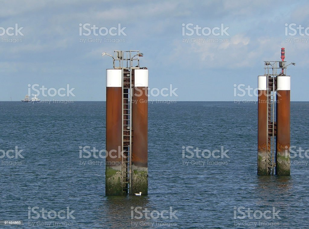 offshore platforms royalty-free stock photo