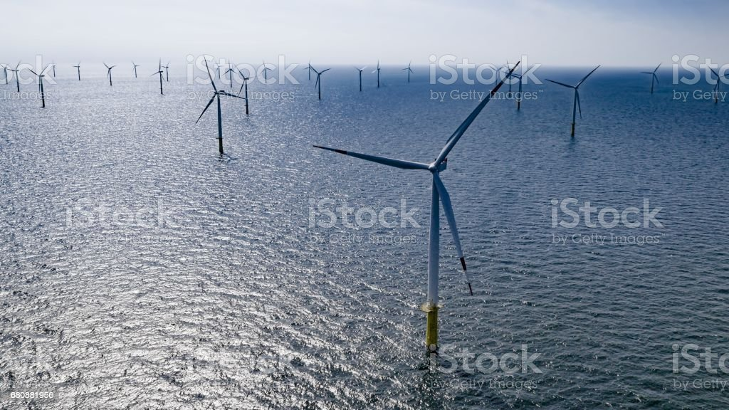 Offshore wind farm royalty-free stock photo