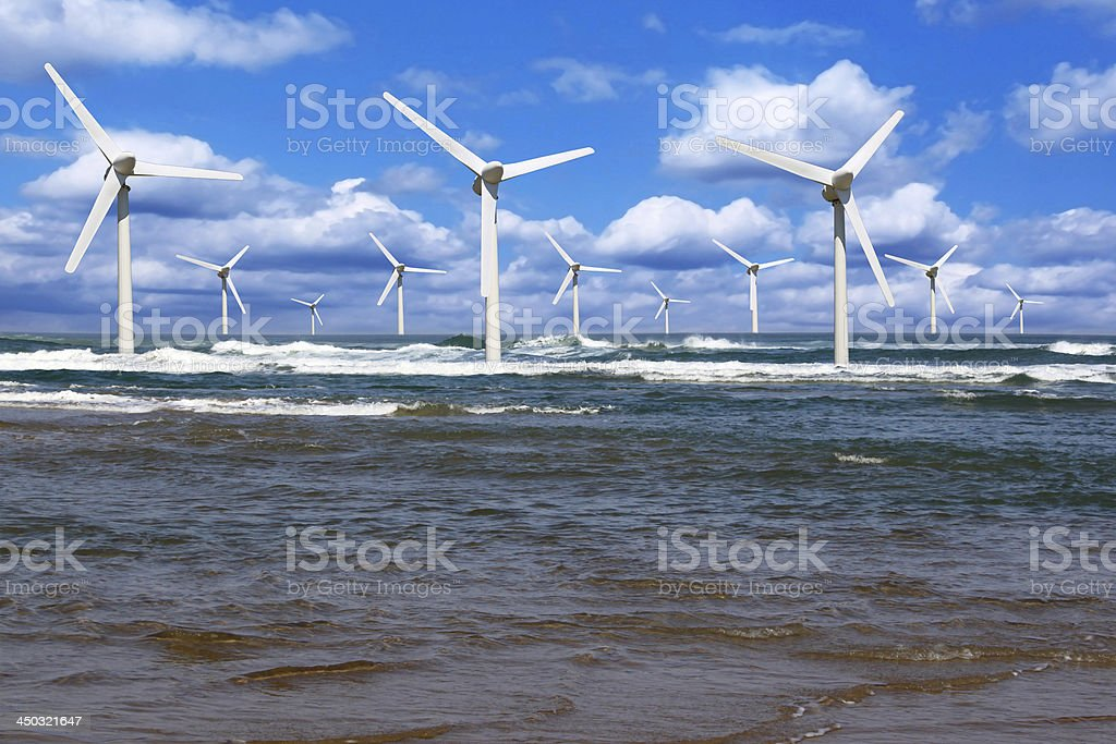 offshore wind royalty-free stock photo
