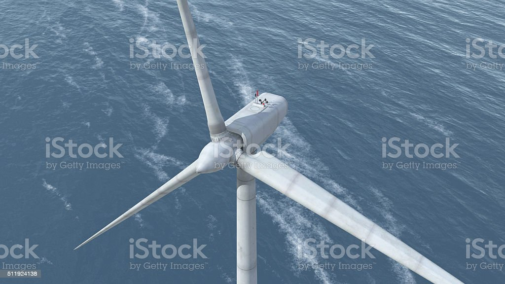 Offshore wind power stock photo