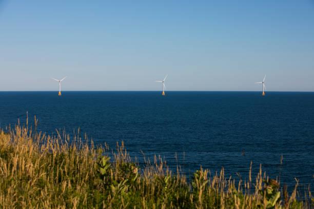 Offshore Wind Turbines stock photo