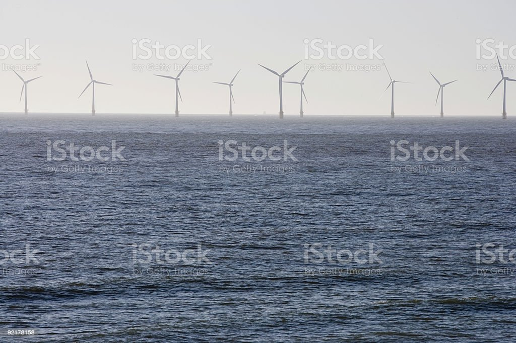 Offshore windfarm. royalty-free stock photo