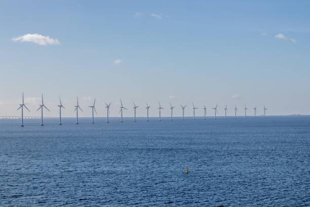 Offshore windmill farm – Foto