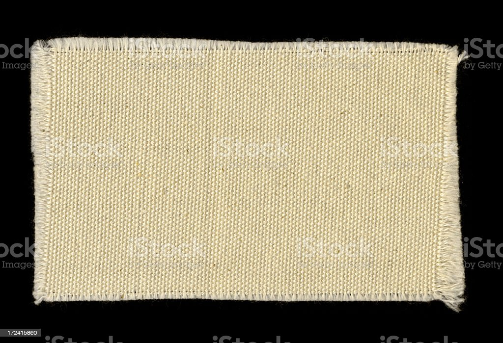 off-white frayed cotton swatch background texture stock photo