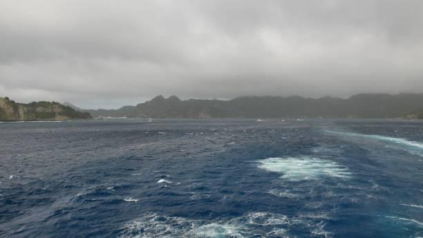 Ogasawara Maru Passenger Ship leaving from Chichi-jima stock photo