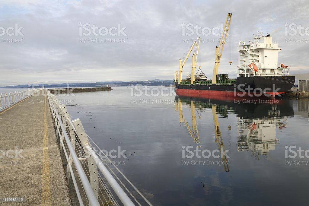 Ogden Point Terminal and Breakwater, Victoria royalty-free stock photo