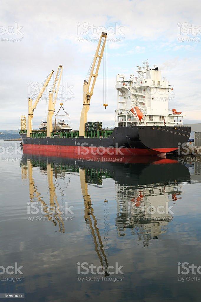 Ogden Point Terminal Cargo Vessel, Victoria royalty-free stock photo