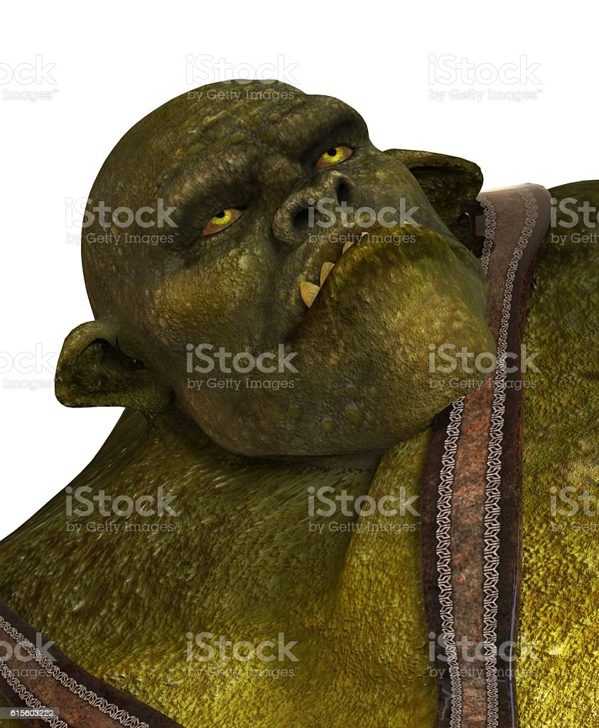 Ogre 3D Illustration stock photo