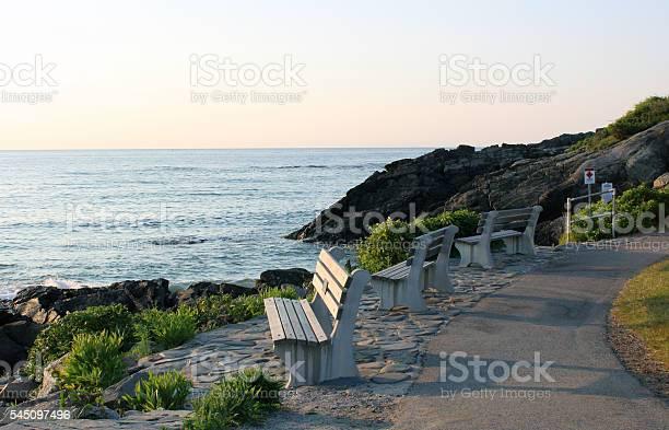 Photo of Ogunquit, Maine - Marginal Way - New England Coastline, Dawn, Summer