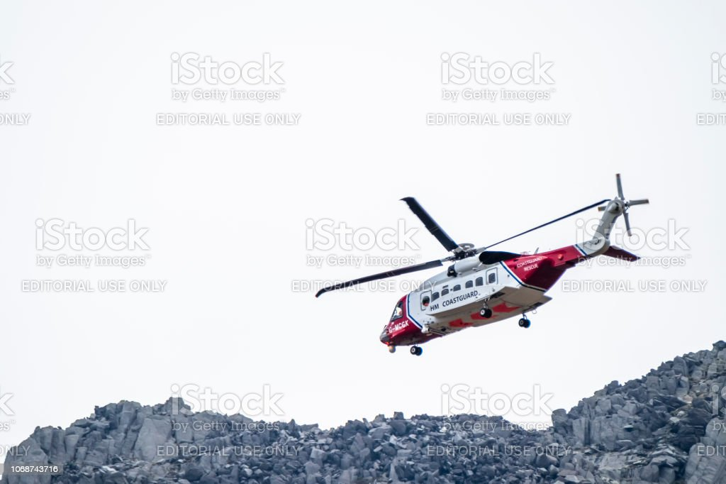Ogwen Glen Wales April 29 2018 British Hm Coastguard