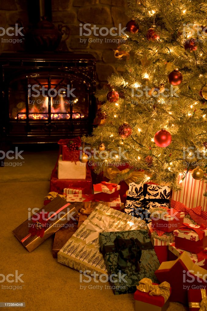 Oh Christmas Tree! (White lights only XL) royalty-free stock photo