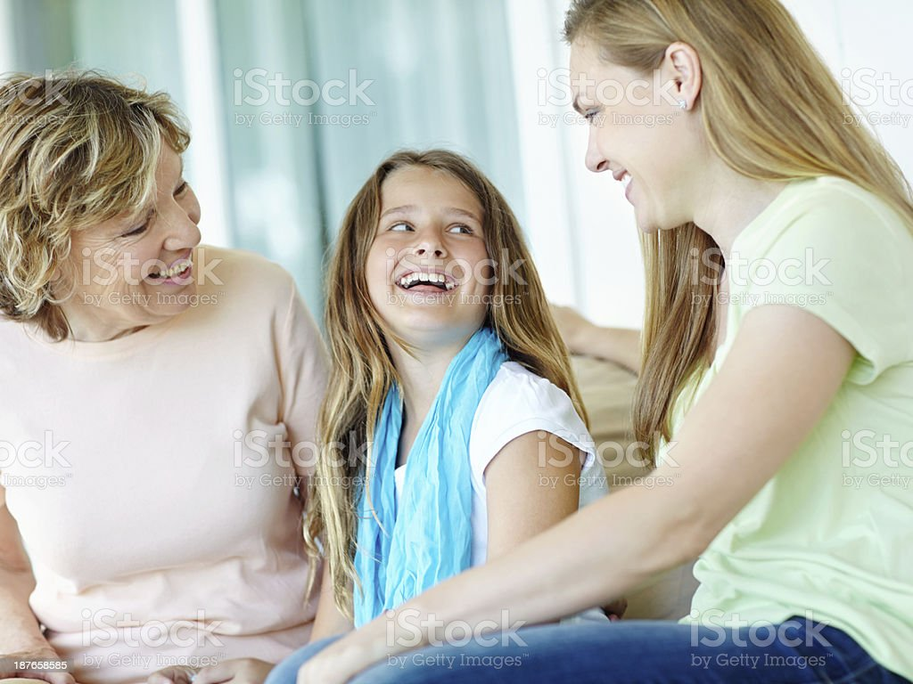 Oh mom, you're so funny! royalty-free stock photo